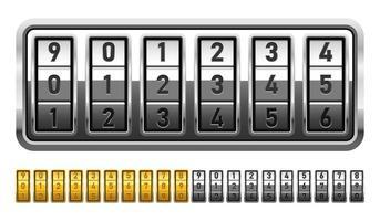 Combination lock vector design illustration isolated on white background