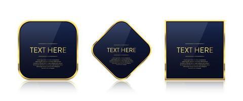 ilustración de diseño de vector de banner de oro de lujo