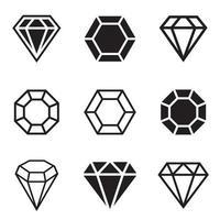 Diamnod vector design illustration isolated on white background