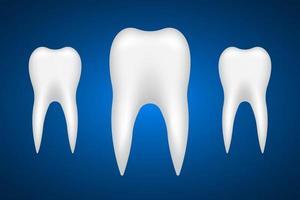 Ilustración de diseño de vector de diente aislado sobre fondo blanco