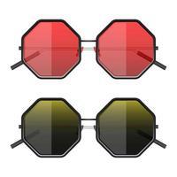 Hipster sunglasses vector design illustration isolated on white background