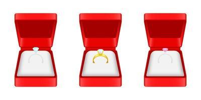 Engagement ring vector design illustration isolated on white background
