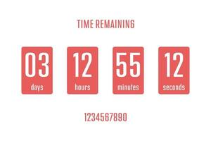 Coundown timer vector design illustration isolated on background