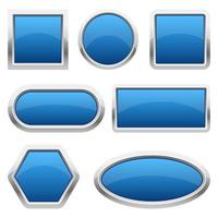 Glossy buttons vector design illustration isolated on white background