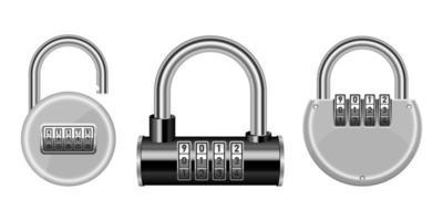 Lock set vector design illustration isolated on background