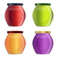 Jam jar set vector design illustration isolated on white background