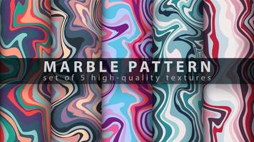 Liquid abstract texture pattern background set vector