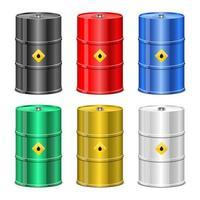 Ilustración de diseño de vector de barril de aceite aislado sobre fondo blanco