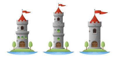 Medieval castle vector design illustration isolated on white background