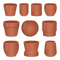 Empty flower pot vector design illustration isolated on white background