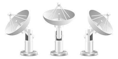Satellite dish vector design illustration isolated on white background