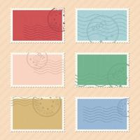 Post stamps vector design illustration isolated on background