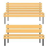 Park bench vector design illustration isolated on white background