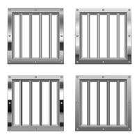 Ilustración de diseño de vector de ventana de prisión