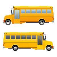 Ilustración de diseño de vector de autobús escolar aislado sobre fondo blanco