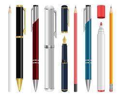 Pen set vector design illustration isolated on white background