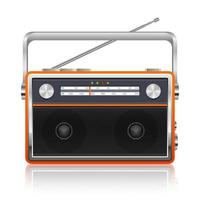 Portable vintage radio vector design illustration isolated on white background
