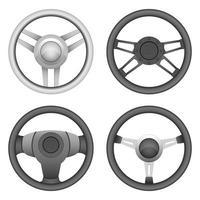 Steering wheel set vector design illustration isolated on white background
