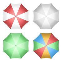 Ilustración de diseño de vector de paraguas aislado sobre fondo blanco
