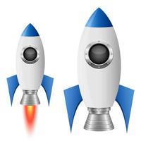 Rocket spaceship vector design illustration isolated on white background