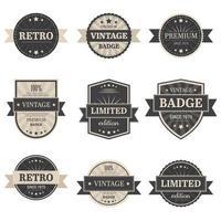 Vintage labels vector design illustration isolated on white background
