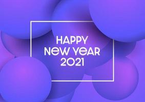 Fondo abstracto feliz año nuevo con diseño moderno vector