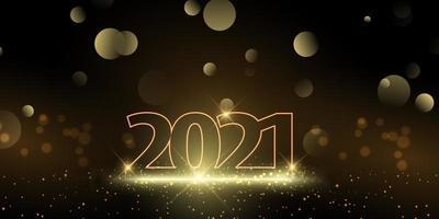 Glittery Happy New Year banner vector