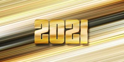 Modern Happy New Year banner design vector