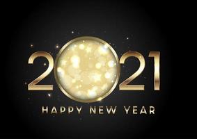 Metallic Happy New Year background vector