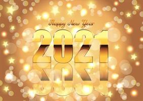 fondo dorado feliz año nuevo vector