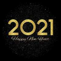Glittery Happy New Years background vector