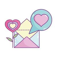 happy valentines day, flower shape heart mail letter message
