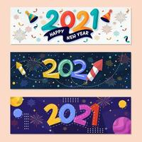 New Year 2021 Party Banner
