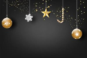 Merry Christmas and happy new year celebration banner