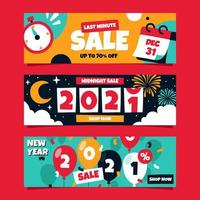 Countdown New Year Banner vector