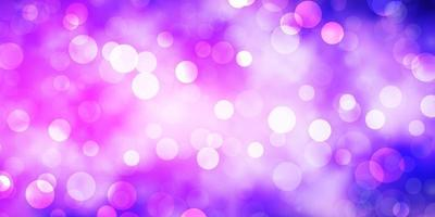 Light Purple vector pattern with circles.