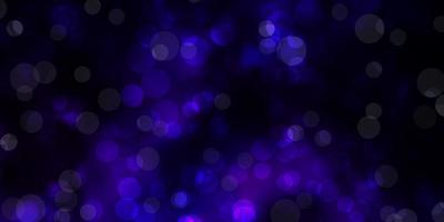 Dark Purple vector template with circles.