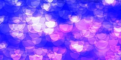 Dark Purple vector texture with disks.