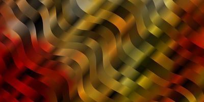 patrón de vector rosa claro, amarillo con curvas.