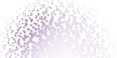 textura de vector púrpura claro en estilo rectangular.