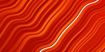 Light Red vector background with curved lines.