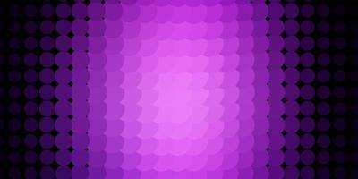 plantilla de vector de color púrpura oscuro con círculos.