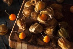 Orange Organic Cape Gooseberries photo