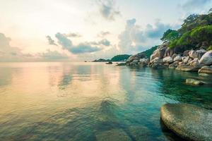 Beautiful Koh Tao islands in Thailand. snorkeling paradise with photo
