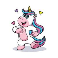 Funny Unicorn Cartoon vector