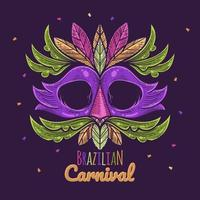 Brazilian Carnival Illustration with Mask