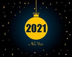 New Year 2021 Blue Background Vector
