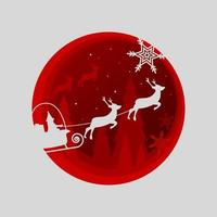 paper cut style christmas design vector