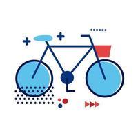 bicicleta vieja icono de estilo plano vector