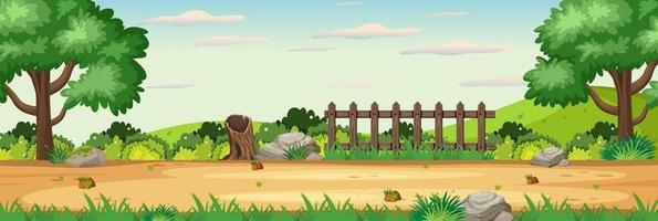 Blank nature garden horizontal scene vector